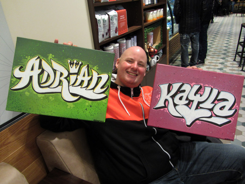 Adrian & Kayla – canvasses