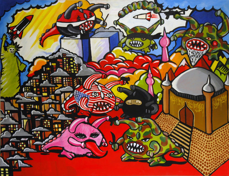 Monster Madness 2006 oilpaint, 180X120 cm