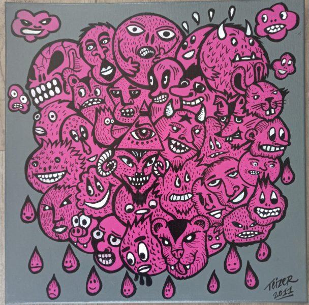 Monster cloud paintings 50 x 50 cm